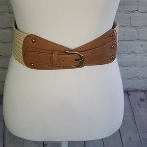 Loft Tan Wide Buckle Belt